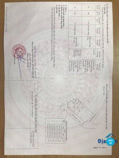 Bán lô đất hẻm 824 Nguyễn Bình Nhơn Đức