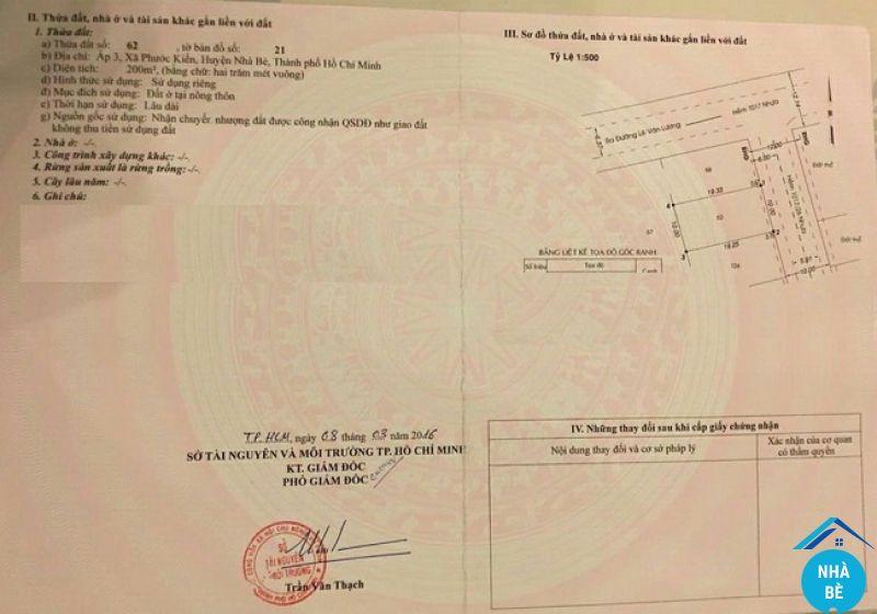 Bán đất làng đại học Lê Văn Lương Phước Kiển Nhà Bè 200m2