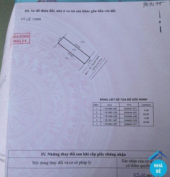Bán đất khu 2ha Nguyễn Bình Nhơn Đức Nhà Bè 100m2