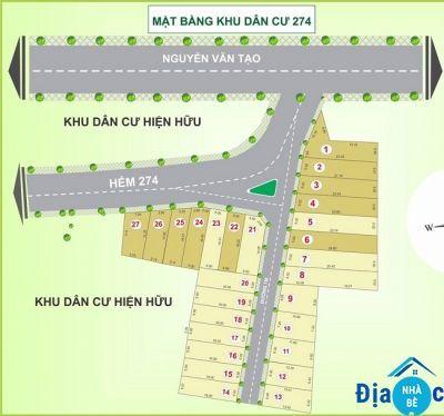 Bán đất hẻm 274 Nguyễn Văn Tạo Long Thới Nhà Bè 125m2